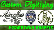 Custom Embroidery Logo Digitizing by Vodmochka Graffix