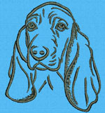 Basset Hound Portrait - Vodmochka Embroidery Design Picture - Click to Enlarge