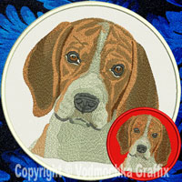 Beagle Portrait Embroidery Patch - Click for More Information