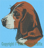 Beagle Portrait - Vodmochka Embroidery Design Picture - Click to Enlarge