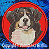 Bernese Mountain Dog Embroidered Patch for Bernese Mountain Dog Lovers - Click to Enlarge