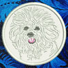 Bichon Frise Embroidered Patch for Bichon Frise Lovers - Click to Enlarge
