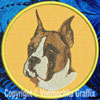Boxer Embroidered Patch for Boxer Lovers - Click to Enlarge