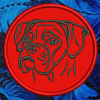 Boxer Portrait Embroidery Patch - Click for More Information