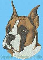 Boxer Portrait - Vodmochka Embroidery Design Picture - Click to Enlarge
