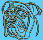 Bulldog Portrait - Vodmochka Embroidery Design Picture - Click to Enlarge