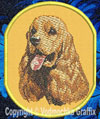 Cocker Spaniel BT3412 Embroidered Patch for CockerSpaniel Lovers - Click to Enlarge