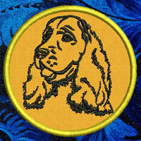Cocker Spaniel Portrait Embroidery Patch - Click for More Information