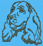 Cocker Spaniel Portrait - Vodmochka Embroidery Design Picture - Click to Enlarge