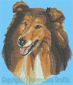 Rough Collie Portrait BT2492 - Balboa Embroidery Design Picture - Click to Enlarge
