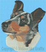Smooth Collie Portrait BT4433 - Balboa Embroidery Design Picture - Click to Enlarge