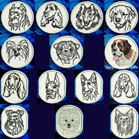 Dog Breed Portraits Embroidery Patches - Click for More Information