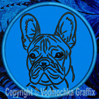 French Bulldog Portrait Embroidery Patch - Click for More Information