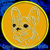 Cream Colored French Bulldog Portrait #2C Embroidered Patch for French Bulldog Lovers - Click to Enlarge