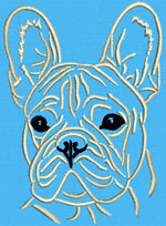 French Bulldog Portrait #1C - Vodmochka Embroidery Design Picture - Click to Enlarge