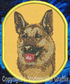 German Shepherd Sleeping HD #1 Embroidered Patch for GermanShepherd Lovers - Click to Enlarge