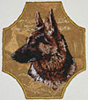 German Shepherd Profile - Unique FrameShaped Embroidered Patch for German Shepherd Lovers - Click to enlarge