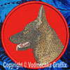 Sable German Shepherd Embroidered Patch for German Shepherd Lovers - Click to enlarge