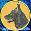 Black German Shepherd Embroidered Patch for German Shepherd Lovers - Click to enlarge