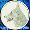 White German Shepherd Embroidered Patch for German Shepherd Lovers - Click to enlarge