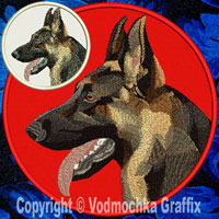 German Shepherd High Definition Portrait Embroidery Patch - Click for More Information