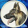 Black and Tan German Shepherd Embroidered Patch for German Shepherd Lovers - Click to enlarge