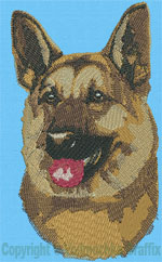 German Shepherd Profile - Vodmochka Embroidery Design Picture - Click to Enlarge