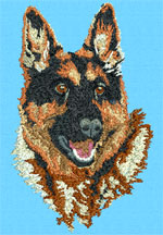 German Shepherd Portrait - Vodmochka Embroidery Design Picture - Click to Enlarge