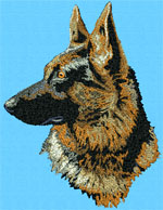 German Shepherd Profile #1 - Vodmochka Embroidery Design Picture - Click to Enlarge