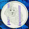 Maltese Agility #3 Embroidered Patch for Maltese Lovers - Click to Enlarge