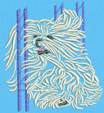 Maltese Agility #2 - Vodmochka Embroidery Design Picture - Click to Enlarge