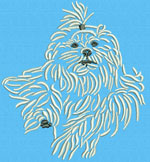 Maltese Agility #5 - Vodmochka Embroidery Design Picture - Click to Enlarge