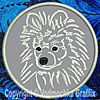 White Pomeranian Embroidered Patch for Pomeranian Lovers - Click to Enlarge