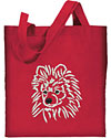 White Pomeranian Embroidered Tote Bag for Pomeranian Lovers - Click to Enlarge