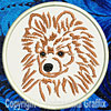 Brown Pomeranian Embroidered Patch for Pomeranian Lovers - Click to Enlarge