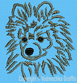 Pomeranian Portrait #1 - Vodmochka Embroidery Design Picture - Click to Enlarge