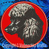 Poodle Embroidered Patch for Poodle Lovers - Click to Enlarge