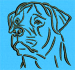 Rottweiler Portrait - Vodmochka Embroidery Design Picture - Click to Enlarge