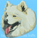 Samoyed Portrait - Vodmochka Embroidery Design Picture - Click to Enlarge