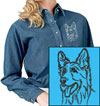 Shiloh Shepherd Portrait Embroidered Patch for Shiloh Shepherd Lovers - Click to Enlarge