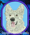 White Shiloh Shepherd High Definition Portrait #2 Embroidered Patch for Shiloh Shepherd Lovers - Click to Enlarge