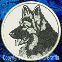 Shiloh Shepherd Portrait Embroidery Patch - Click for More Information