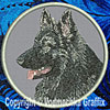 Sable Shiloh Shepherd High Definition Profile #2 Embroidered Patch for Shiloh Shepherd Lovers - Click to Enlarge