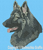 Shiloh Shepherd Profile - Vodmochka Embroidery Design Picture - Click to Enlarge