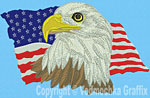 Eagle USA-Flag - Vodmochka Embroidery Design Picture - Click to Enlarge