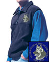 International Shiloh Shepherd Dog Club Logo Embroidered Polar Fleece Vest - Click to Enlarge