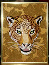 Jaguar Embroidery Portrait on canvas for Jaguar Lovers