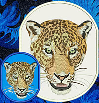 Jaguar High Definition Portrait Embroidery Patch - Click for More Information
