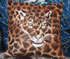 Jaguar - Leopard Embroidered Berber Pillow for Jaguar Lovers - Click to Enlarge - Dimensions: (400X340) File Size: 27KB