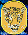Jaguar Portrait #1 Embroidered Patch for Jaguar Lovers - Click to Enlarge